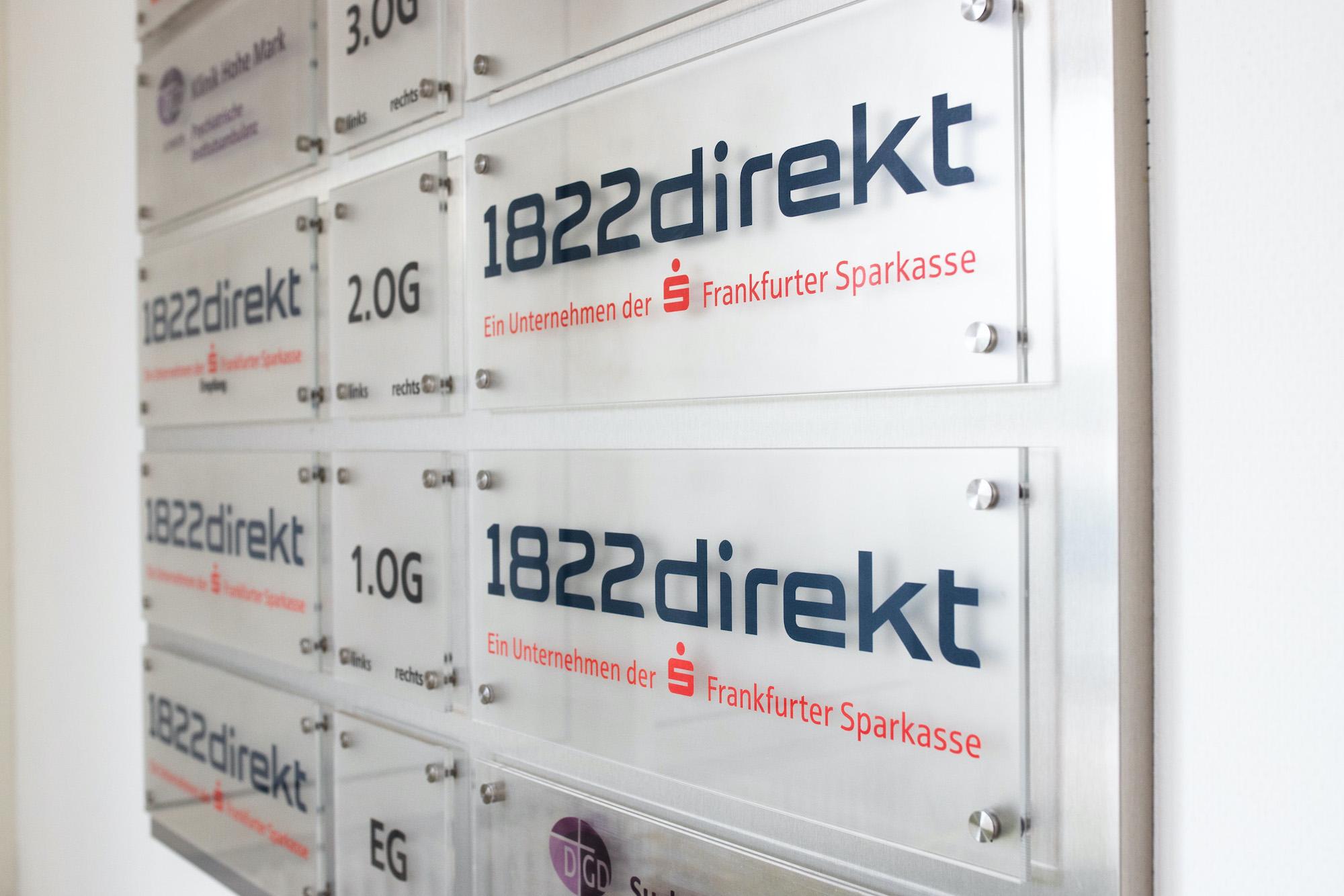Hinweisschild Frankfurter Sparkasse