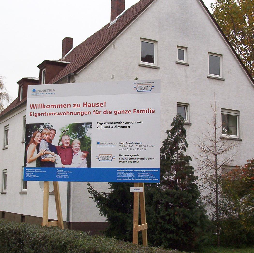 UV-Direktdruck Hinweisschild Praxisschilder Kanzleischilder Wiesbaden