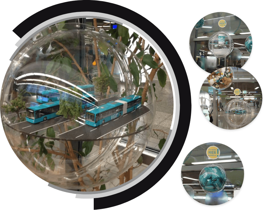 Collage Schaufensterwerbung