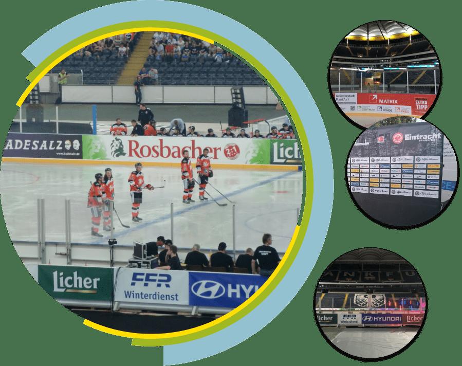 Collage Sportplatzwerbung