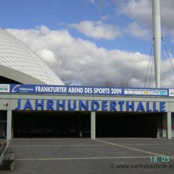Werbeschild Jahrhunderthalle Frankfurt