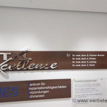 Buchstaben Fassadenbeschriftung Folienschrift Fassadenwerbung Darmstadt