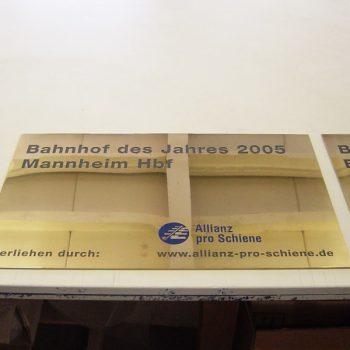 Plakette Mannheimer Bahnhof