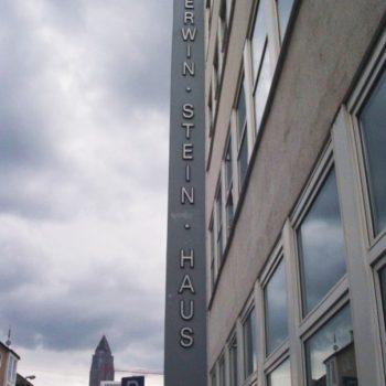 Firmenschild Erwin-Stein-Haus