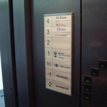 Etagenplan Aufzug
