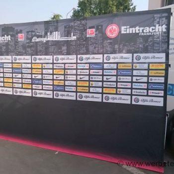 Faltwand Sportplatzwerbung Spanntuch Frankfurt