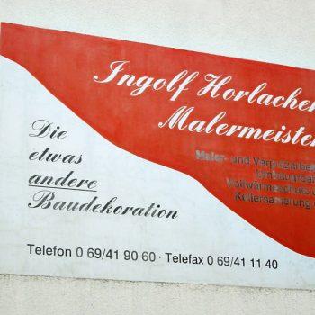 Fassadenbeschriftung Ingolf Horlacher Malermeister