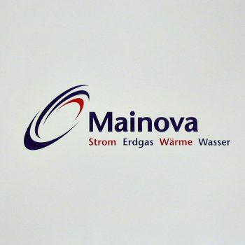 Fassadenbeschriftung Mainova