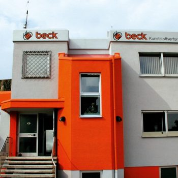 Fassadenbeschriftung Beck