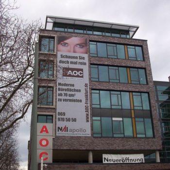 Fassadenbeschriftung Banner