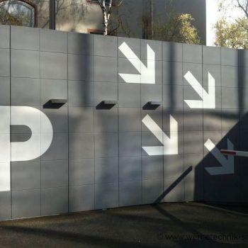 Fassadenbeschriftung Wegweiser Folienbuchstaben Digitaldruck Darmstadt