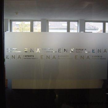 Türbeschriftung Folienbuchstaben Sichtschutz