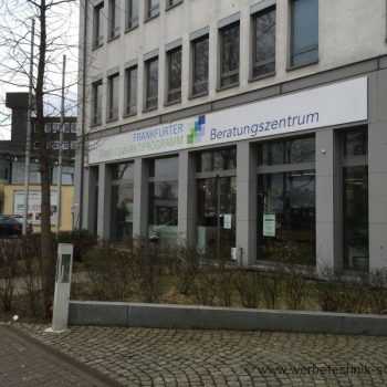 Firmenschild Frankfurt