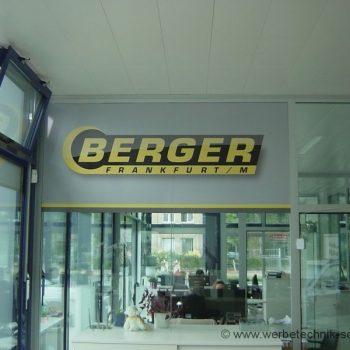 Firmenschild Berger Frankfurt