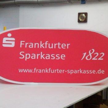 Schild Frankfurter Sparkasse 1822
