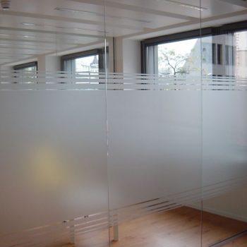 Glaswand Sichtschutz
