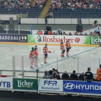 Sportplatzwerbung Banden Folien Eishockey Frankfurt