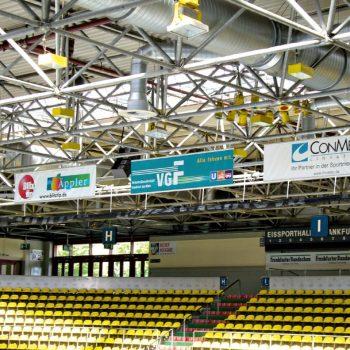 Fahnen Sportwerbung Eishalle Frankfurt