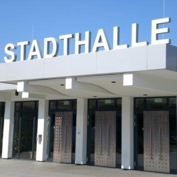 Lichtwerbung Stadthalle Flörsheim