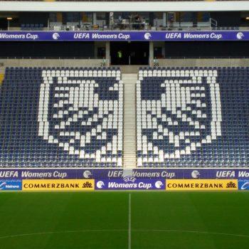 Bandenwerbung Womens's Cup Commerzbank-Arena Frankfurt