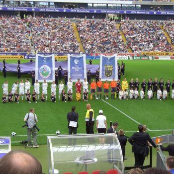 Sportplatzwerbung UEFA Womens's Cup Commerzbank-Arena Frankfurt